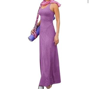 Athleta Purple Twist & Turn maxi Dress XS